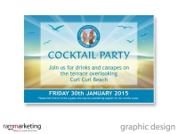 Graphic designer Northern Beaches - Invitation