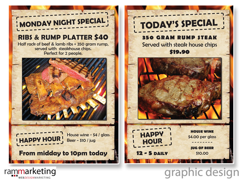 Graphic Design - Restaurant Promotions