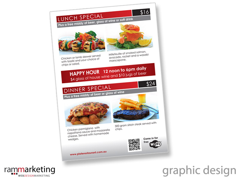 Graphic Design - Restaurant Promotional Flyer