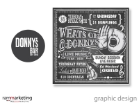 Graphic Design - Restaurant Postcard