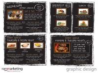 Graphic Design - Restaurant Posters