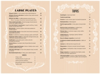 Restaurant menu design Sydney