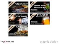 Graphic Design - Digital Restaurant Displays