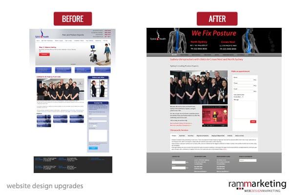 website design upgrade