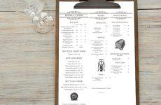 restaurant menu graphic design sydney
