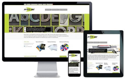 Tradie Website Design – Print Aid Printers