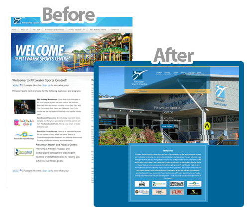 website upgrade northern beaches