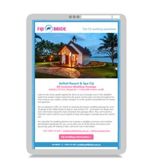 Email Marketing – Fiji Bride