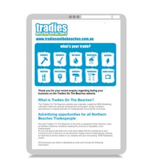 Email Marketing – Tradies On The Beaches