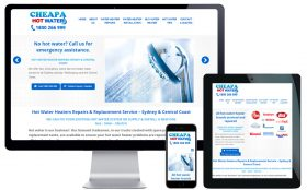 Trade Website Design – Cheapa Hot Water