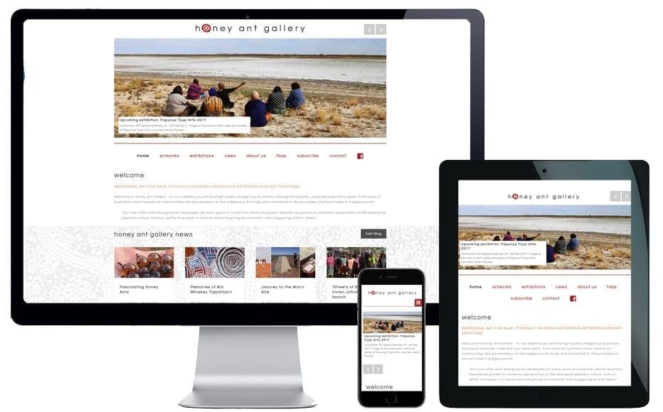 art gallery website designer sydney