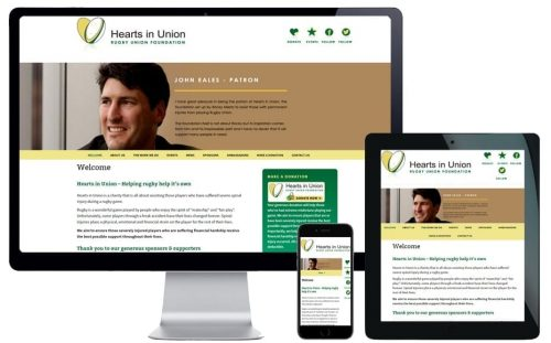 Charity Website Design – Hearts in Union