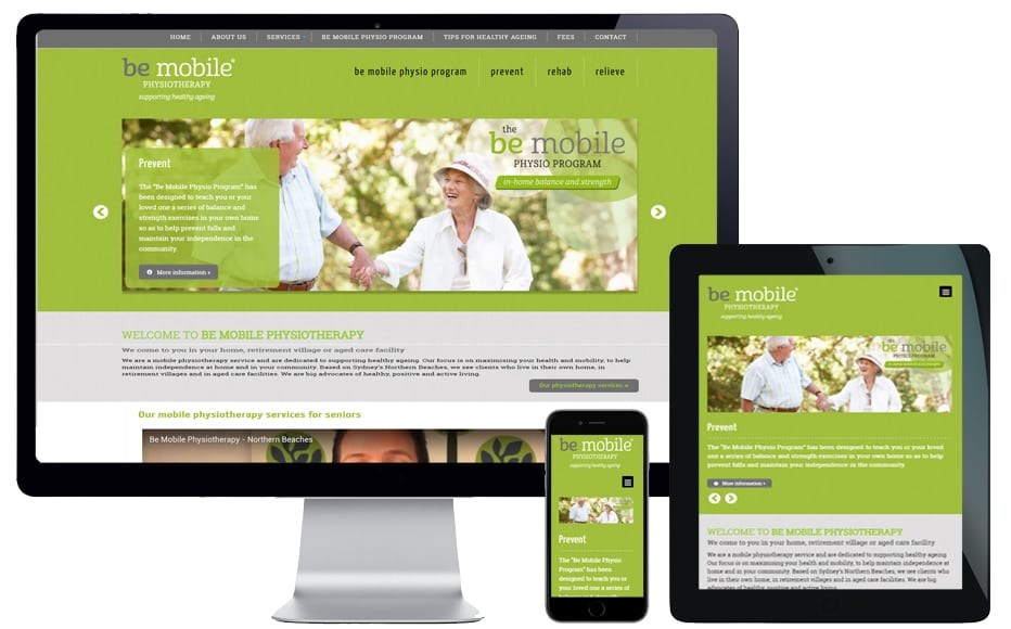 medical industry website design northern beaches