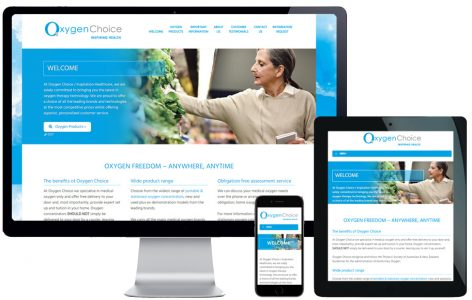 Web Design – Oxygen Choice