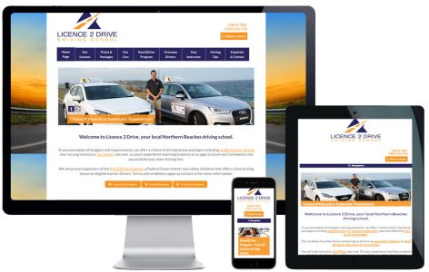Web Design – Licence 2 Drive Driving School