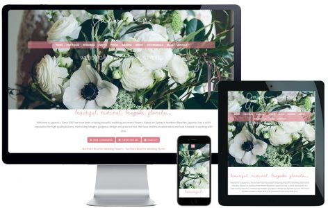 Web Design – Japonica Wedding Florists