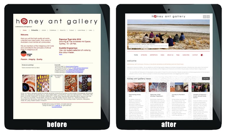 sydney art gallery web design services