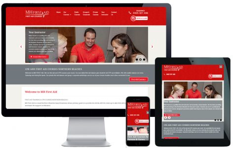 Web Design – MH First Aid