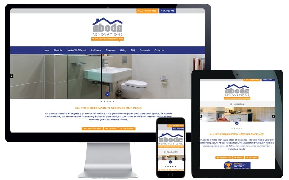 trade website design northern beaches