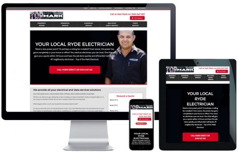 Trade Website Design – Top Of The Mark Electrical