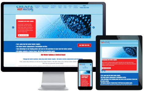 Trade Website Design – Cheapa Hot Water