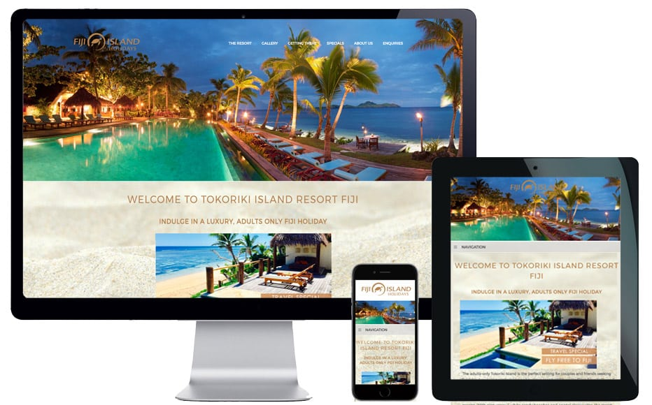 travel website design sydney