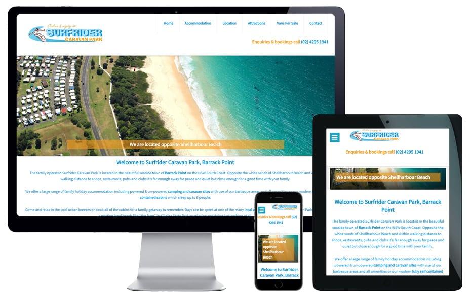caravan park website designer sydney