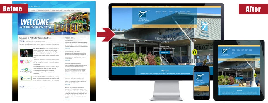northern beaches website redesign service