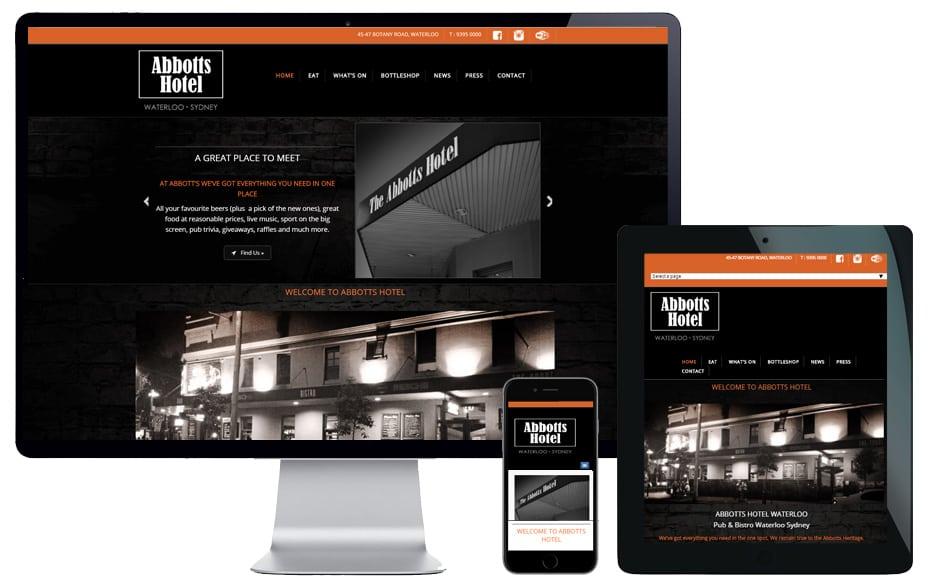 sydney hotel website designer