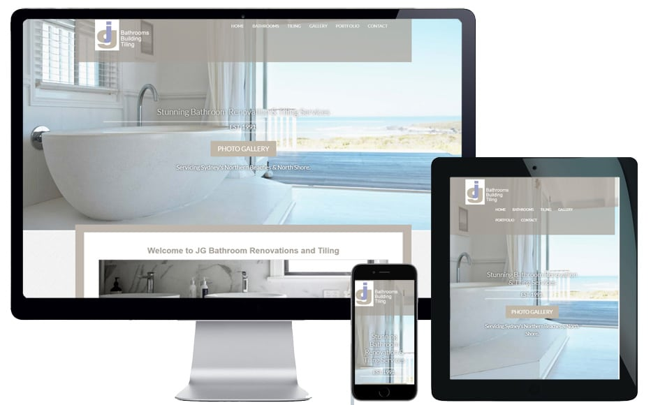 trade business website design northern beaches