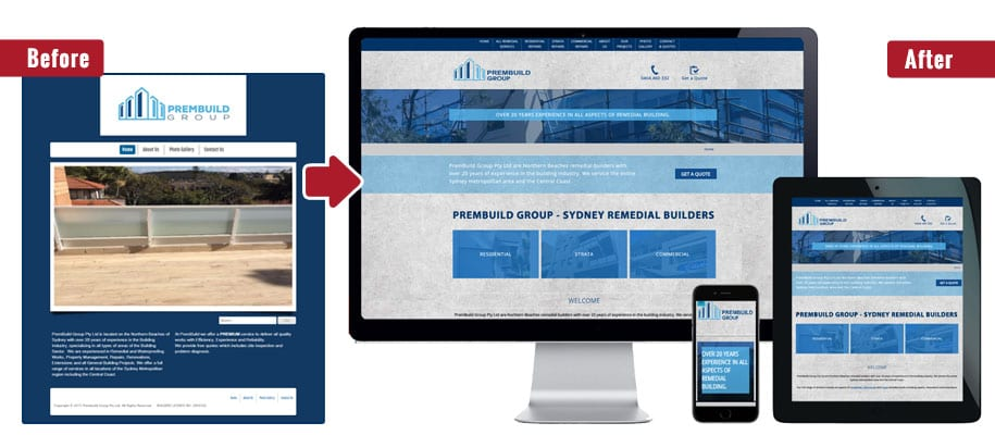 building company website design services