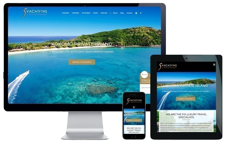 travel agency websites