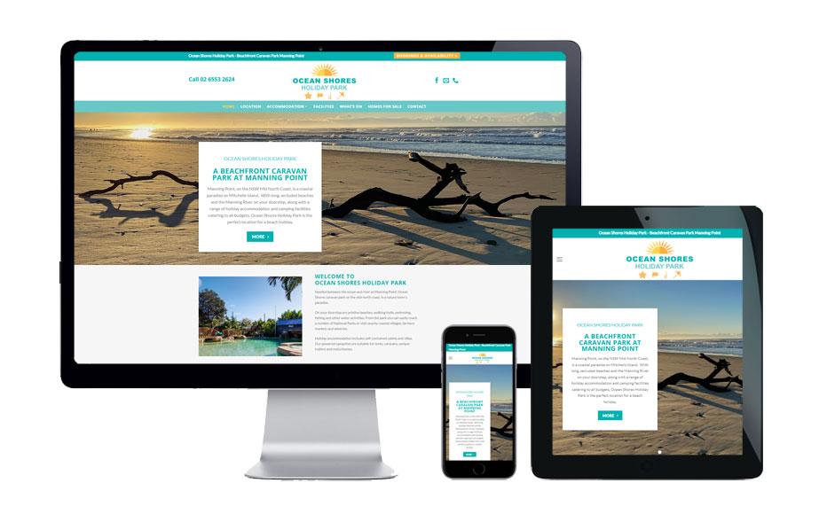 caravan park web design
