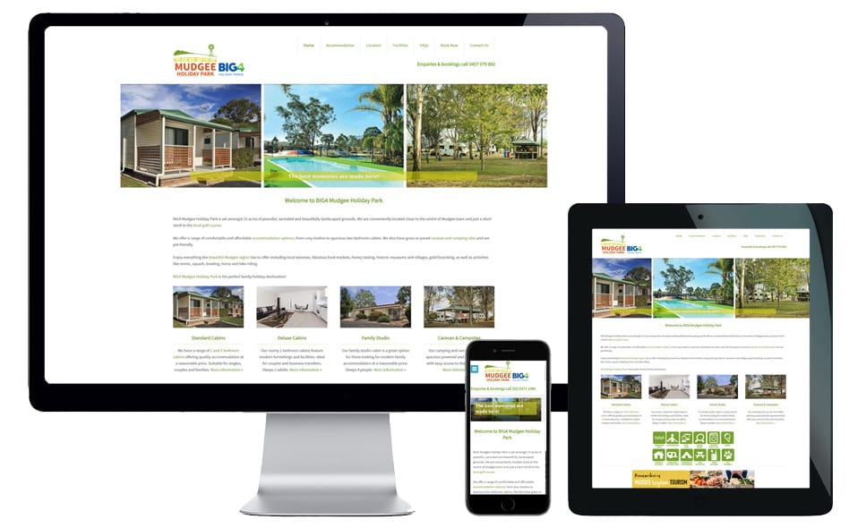 caravan park website design sydney