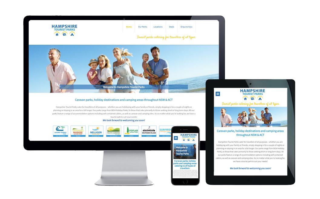caravan park website designer australia