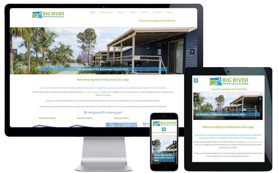 caravan park website designer