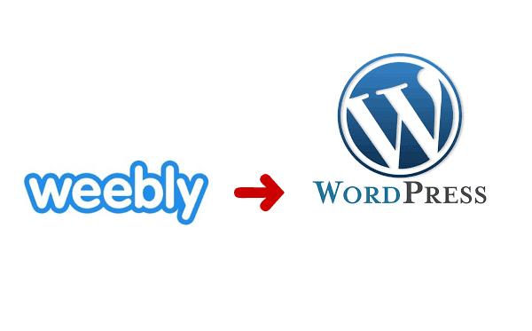 convert weebly website to wordpress