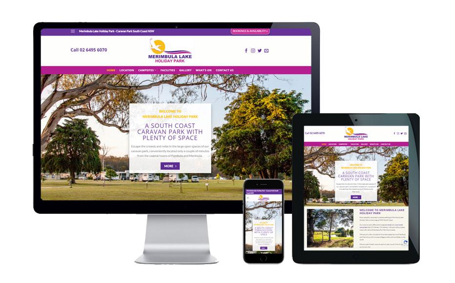 web design caravan park