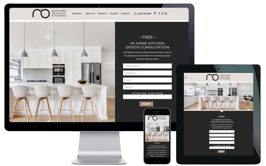 trade business website designer