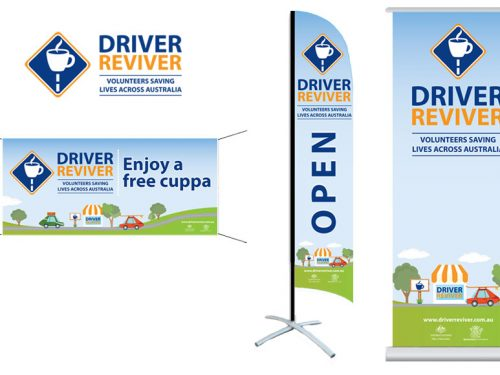 Driver Reviver – Banners and Flags