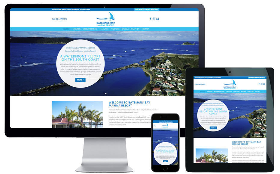 web design batemans bay